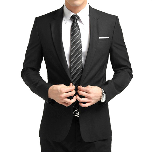 2017 Hot Sale Men wedding/party suits /party dress/Lounge & Wedding Tuxedos /wedding suits(Jacket+Pants+Tie) Black Suit