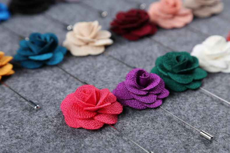 1pcs Fabric Flower Brooches Men and Women Brooch Pins Suits Decoration Lapel Pins For Men Brooch for Suits Accessories 10