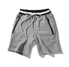 High quality 2017 summer men/women On both sides of the zipper loose shorts hip hop clothes cotton shorts Free Shipping