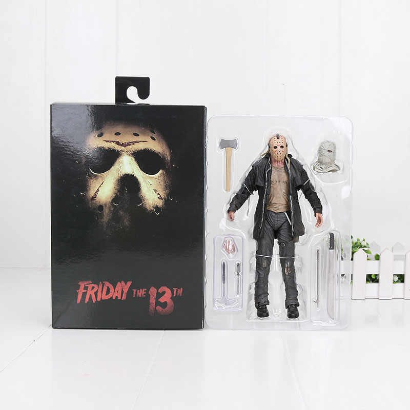 18 cm Parte 2 Horror NECA Friday the 13th Jason Voorhees Brinquedos PVC Figuras de Ação Collectible Modelo Toy Dolls