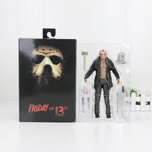 18cm NECA Horror Friday the 13th Deel 2 Jason Voorhees Speelgoed PVC Action Figures Collectible Model Speelgoed Poppen(China)