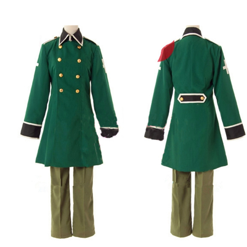 Anime APH Axis Powers Hetalia Switzerland Military Uniform Cosplay Costume Customized Size Coat Hat Belt Pants