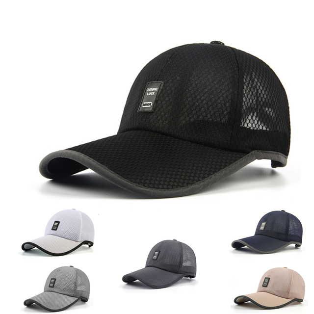 2e7d331cd91 New Fashion Unisex Sports Outdoor Cap Long Visor Fishing Casual Cap  Baseball Cap Men Women Summer Mesh Dad Hat Sunshade Hat Cap