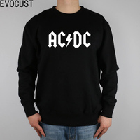 FLASH ROCK N ROLL AC DC Men Sweatshirts Thick Combed Cotton