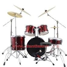 5 font b Drums b font 4 Cymbals Purple color Afanti font b Music b font