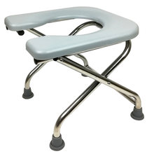 Foldable Potty Chair Household Elderly and Pregnant Woman Washable Commode Chair Portable Non-slip Stainless Steel Potty Stool(China)