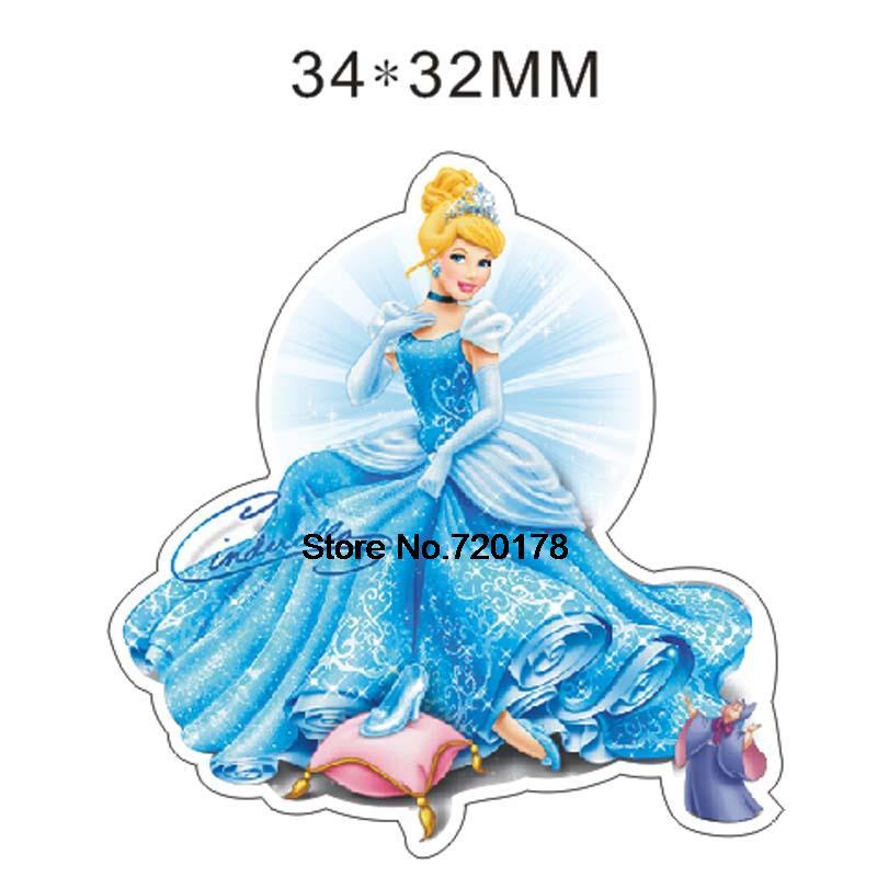 Resin crafts Princess Cartoon Planar Resin Flatback Resins cabochons character for Bow center 50pcs 34*32mm RET834H