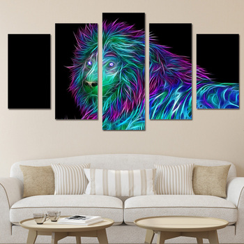 ArtSailing HD Printed abstract art lion Painting Canvas Print room decor print poster picture canvas Free shipping/ny-4980 image