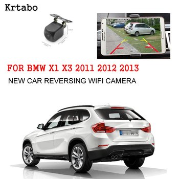 Car wireless rear camera For BMW X1 X3 2011 2012 2013 car Night Vision reversing cam HD CCD night vision waterproof high qualit