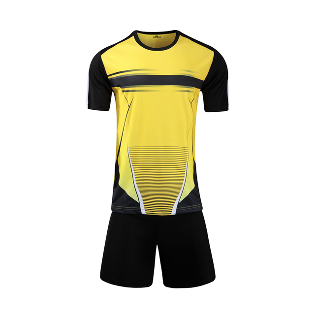 aabd1cadb New Men s Football Training Sets Soccer Blank Jerseys Kids Soccer Jersey  Breathable Jersey Sets Quickly Dry DIY Running Sets