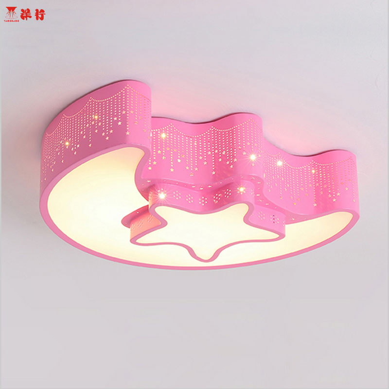 Creative star half moon led ceiling light 85-265V 30W led child baby room lights ceiling lamps bedroom decoration lights creative star moon lampshade ceiling light 85 265v 24w led child baby room ceiling lamps foyer bedroom decoration lights