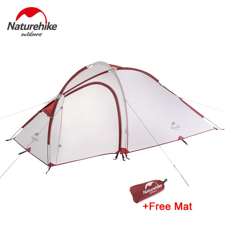 Naturehike Hiby Family Tent 20D Silicone Fabric Waterproof Double-Layer 2 Person 3 Season camping tent one room one hall naturehike factory hiby family tent 20d silicone fabric waterproof double layer 3 person 3 season camping tent one room one hall