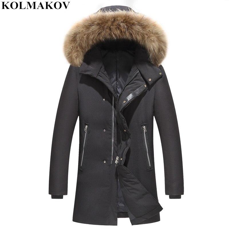 New Men's Winter Thick   Coats   2018 Mens Black   Down     Coats   Long Warm Fur Hood Jackets with Good Quality M-3XL Hot Sale Clothes