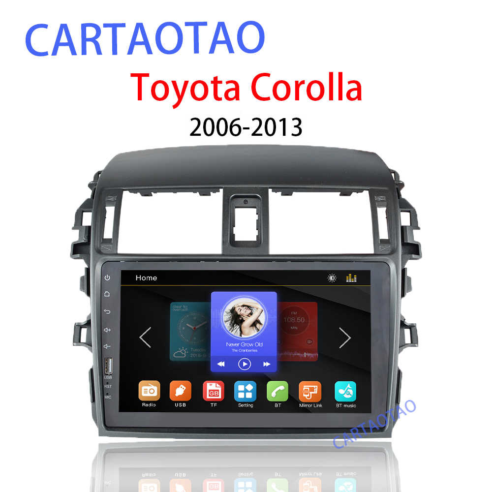 2DIN car radio multimedia video player(supports Android mirror link) for Toyota Corolla E140 / 150 2008 2009 2010 2011 2012 2013