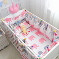 luxury Crown moldings Crib Bumpers  Baby Bed Bumper Liner Baby Cot Sets Bed Around Protector Swan elephant trees 5 pcs / set