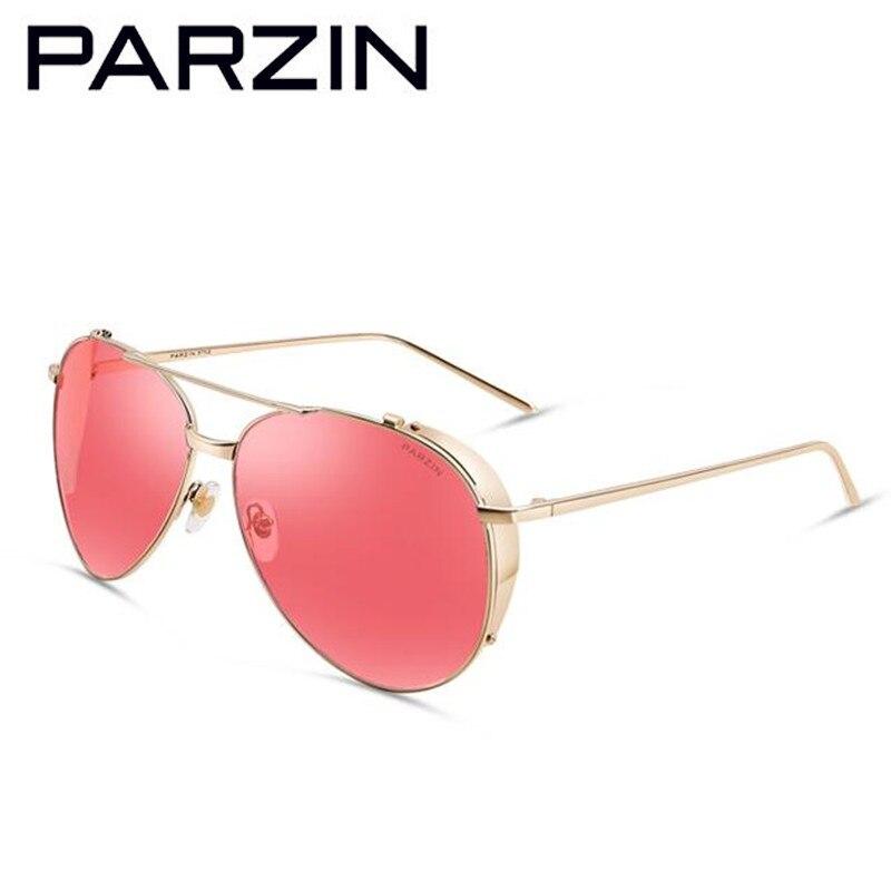 c720e9b116 Parzin vintage gafas de sol mujer hombres colorido grandes gafas de sol  polarizadas UV gafas de conducción femenina señoras sombras con el caso  9662f