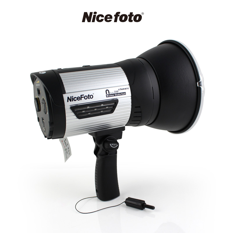 NiceFoto nflash 300 300W  2.4G Wireless GN68 HSS 1/8000S Studio Flash High Speed Speedlite outdoor flash 300w