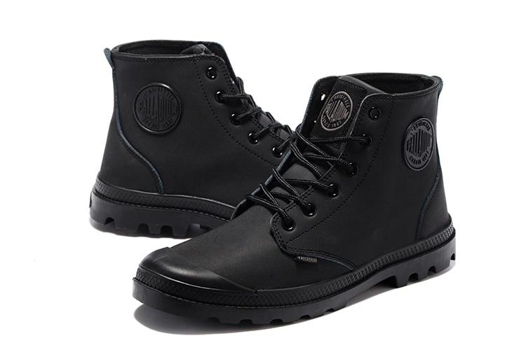 Tous Cuir Hommes Palladium 44 Casual Militaires De Armée Chaussures 40 Les Classique Fond Haute Noir Supérieure Antidérapant En Bottes Pour Femme vwm0N8n