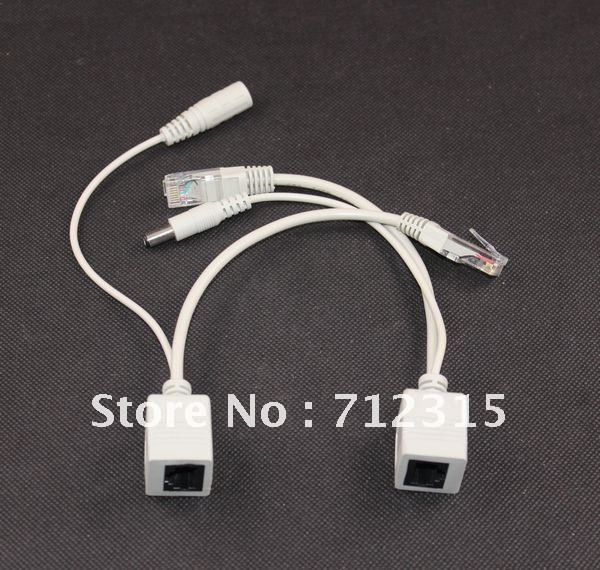 New PoE cable Power Over Ethernet Injector Splitter Cable Adapter PoE Kit  50pairs/lot ,free shipping 2015 poe cable power over ethernet injector splitter cable 19cm adapter poe kit for ip camera 100pairs lot free shipping