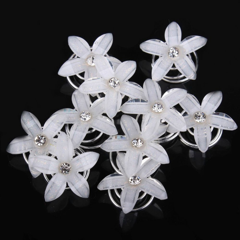 New Fashion Women hair accessories Rhinestone plum single diamond pearl hair spiral hairpin hairpin butterfly   headwear
