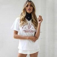 Grundlegende Kaktus T Shirt Frauen Baumwolle Harajuku Mode Graphic Tees Frauen T-Shirt One Direction Nette Camisas Lustige T-shirts 50B0352
