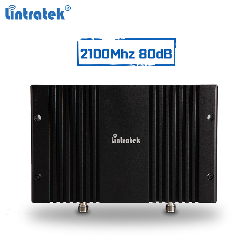 Lintratek 80dBi 3g Repeater 2100Mhz Cellular Signal Booster 3g 2g Mobile Signal Amplifier AGC MGC With LCD Display Tele 2 #6.1