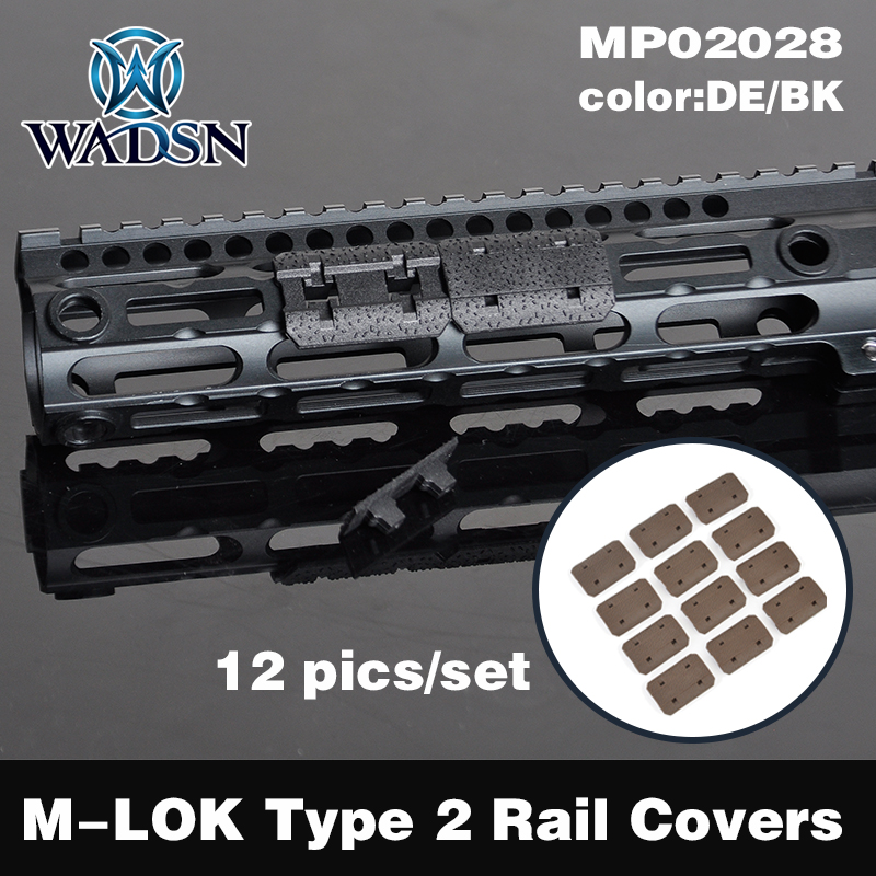 WADSN Rail Cover For M-lok Sysytem 12 Piece Accessories Airsoft Mount Weaver M LOK Type Softair M4 AEG MP02028 Hunting Accessory