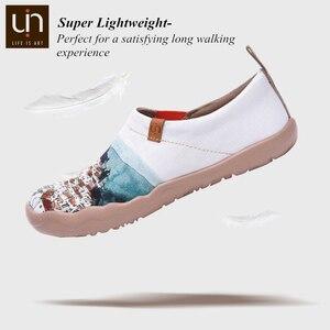 Image 3 - Uin um vermelho vival cidade arte pintada sapatos de lona para a mulher conforto deslizamento em mocassins casual sapatilha plana senhoras moda sapatos de caminhada