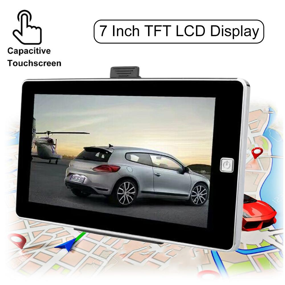 7 Inch car 8GB 128M 800 * 480 Vehicle GPS Navigation System with Newest Europe America Russia Maps car LCD Display audio player td070wgcb2 supply original tongbao 7 inch car audio navigation display lamp