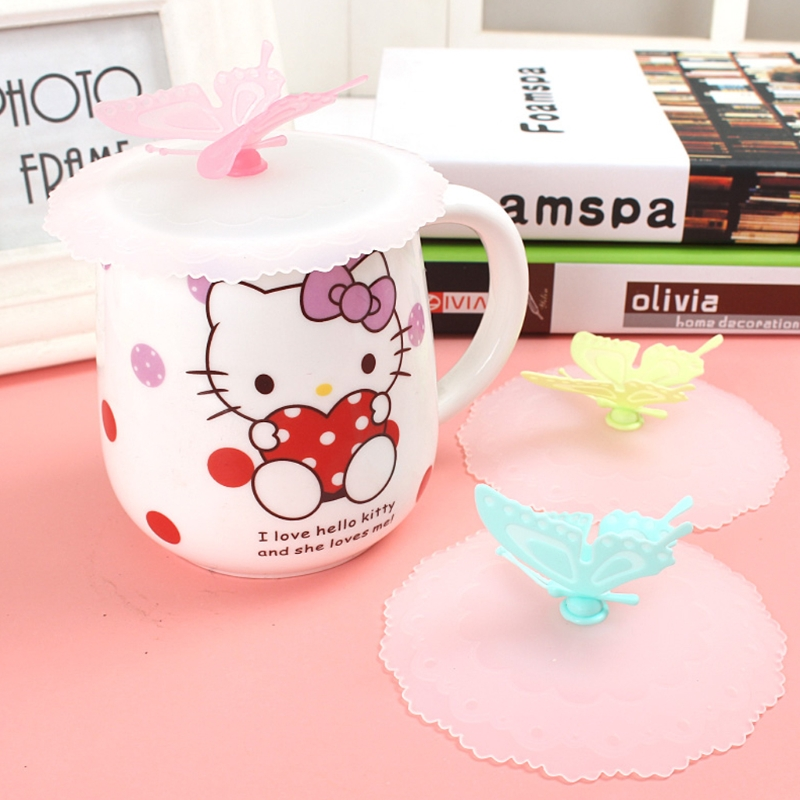 OOTDTY Silicone Cute Sealed Cup Cover Lid Cap Coffee