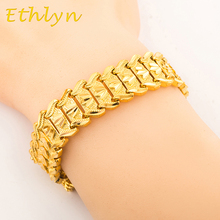 Ethlyn Men  Bracelet  Jewelry  Hip hop style High quality  gold Color preserving Persistence  MEN  gift  B002