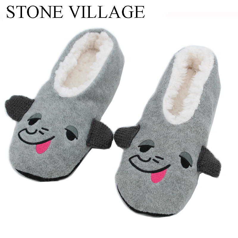 STONE VILLAGE New Warm Flats Soft Sole Women Indoor Floor Slippers/Shoes Comfortable Indoor Shoes Fur Bunny Slippers Plush Socks vintage embroidery women flats chinese floral canvas embroidered shoes national old beijing cloth single dance soft flats