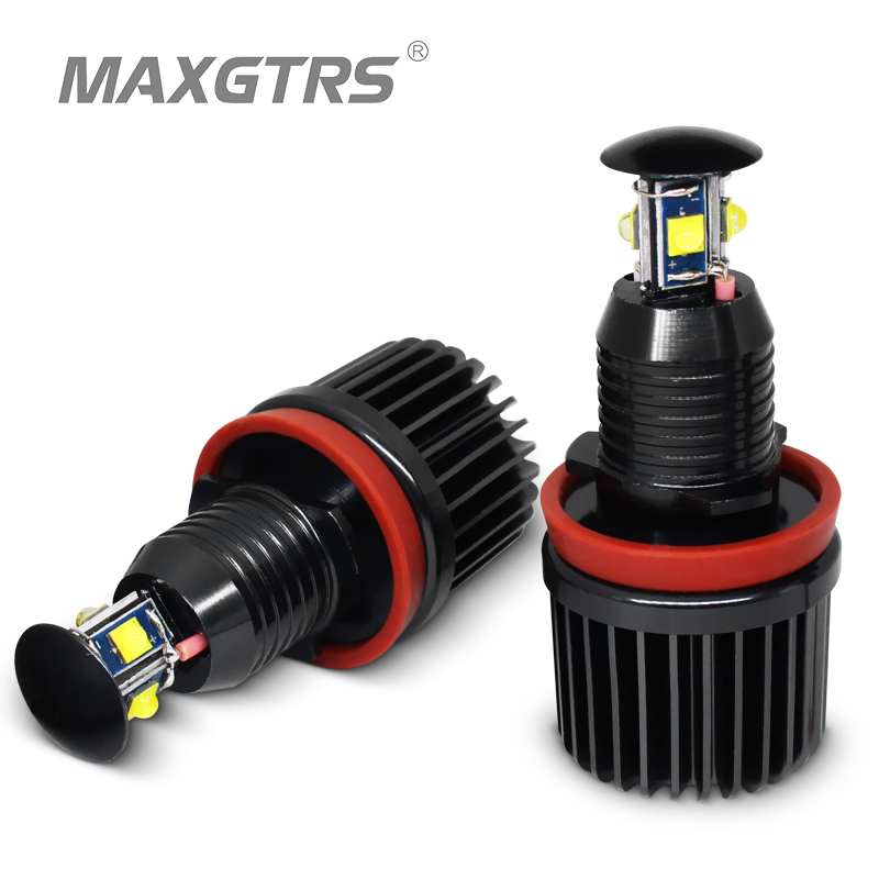 2x Error Free 40W <font><b>H8</b></font> <font><b>LED</b></font> <font><b>Cree</b></font> Chip Bulb 6000k Angel Eyes Light For BMW E60 E61 E63 E64 E71 X6 E82 E87 E89 Z4 E90 E91 E92 M3 E93 image