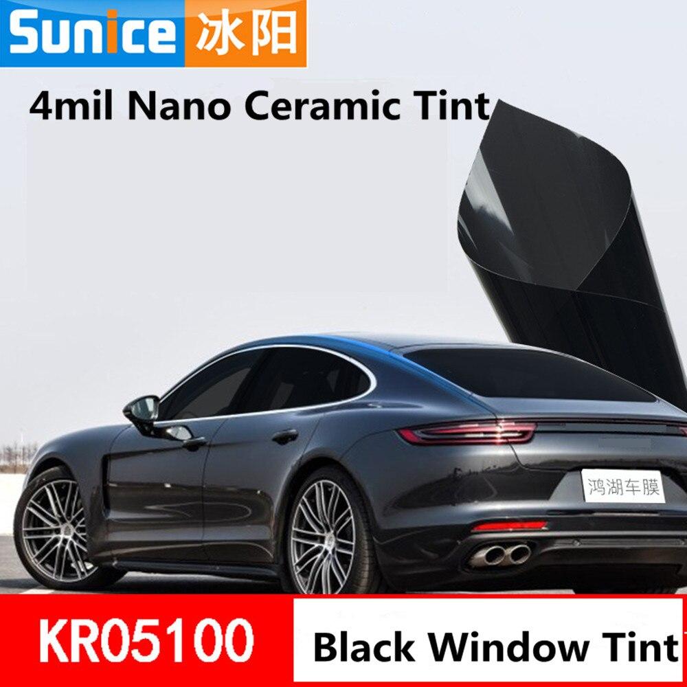 4mil Nano céramique Film 5% Transmission de la lumière améliorer effet d'intimité voiture fenêtre feuilles Wrap voiture fenêtre verre vinyle Film 1.52x15 m