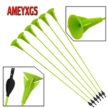 9/12pcs Archery 27inch Children Sucker Arrows Safe Rubber Arrowhead Fiberglass Shaft Shooting Game Accessories