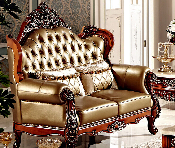 Stile antico divano schienale alto in legno divano braccio MS102 in ...