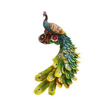 Modern minimalist resin Creative peacock living room background wall hangings American three-dimensional home decor crafts