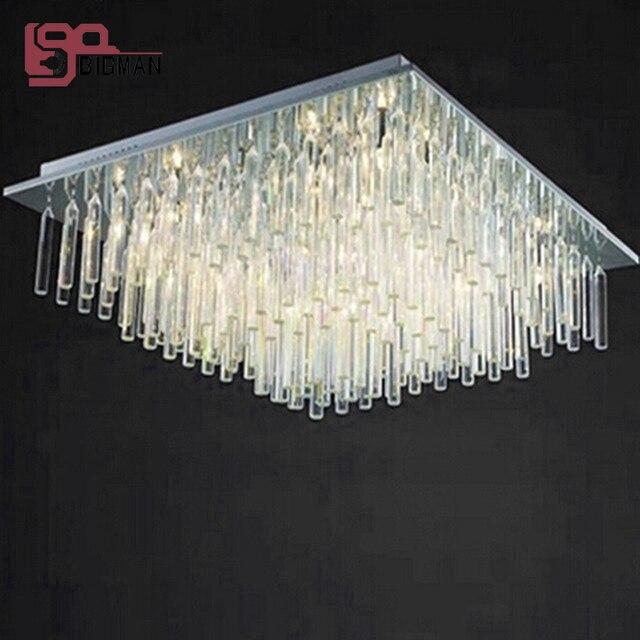 Neue Moderne Kronleuchter Kristall Lampen LED Wohnzimmer Beleuchtung AC110 240V Platz Leuchten