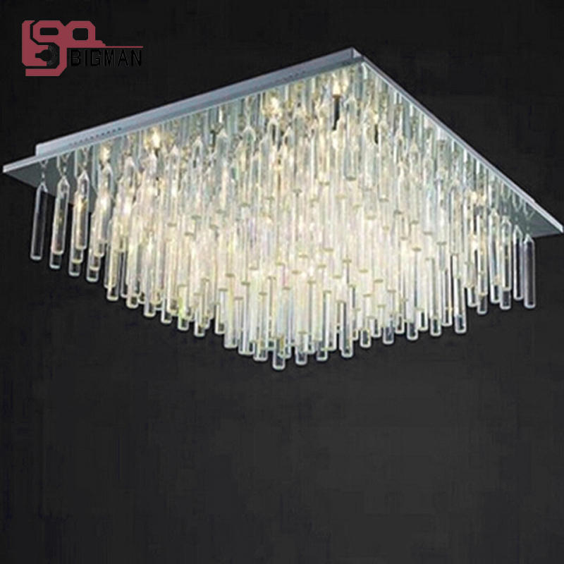 new modern chandelier crystal lamps LED chandelier living room lighting ,AC110-240V square crystal light fixtures