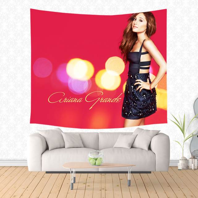 Ariana Grande Pattern Tapestry Decorative Wall Hanging Carpet