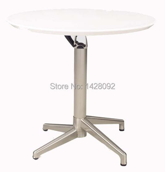 Fashion Modern Outdoor Round Folded ABS Top Brushed Aluminum Cocktail Table Bar Table LQ- C73