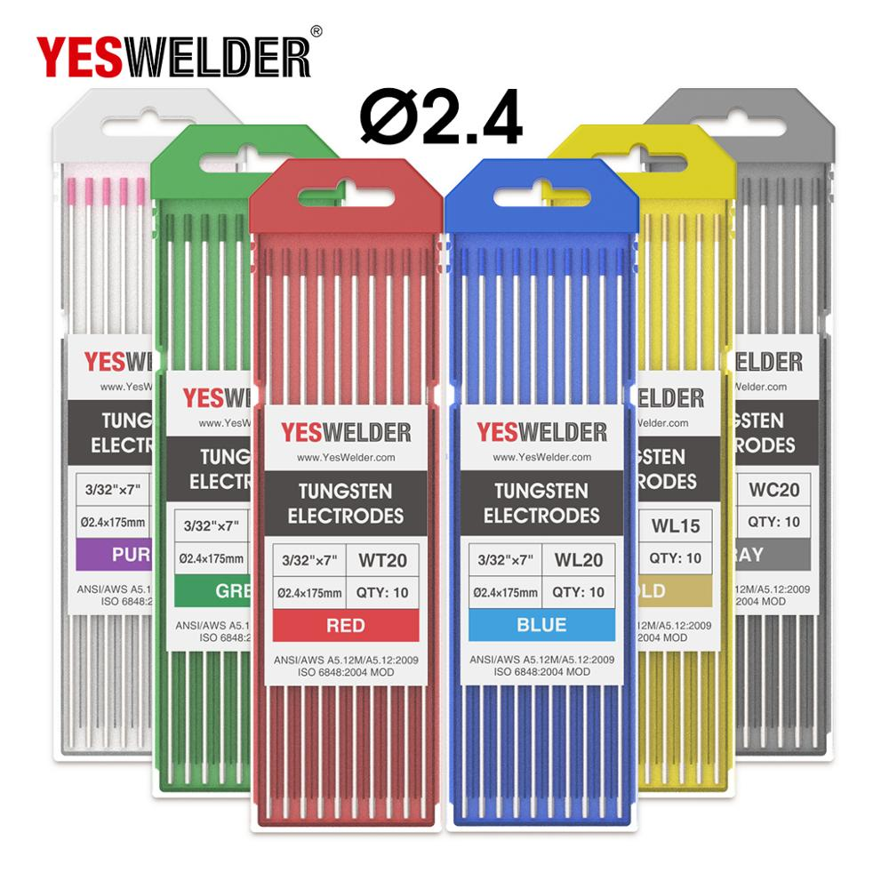 YESWELDER 10pcs/Set Welding Rod Tungsten Electrode 175mm/7