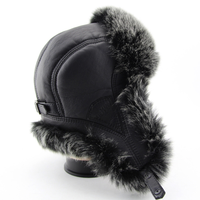 BFDADI 2018 New Men Winter Warm Bomber Hats Russian Cap Trapper Caps Aviator Trooper Earflap Hats Outdoor Sport Hat FreeShipping