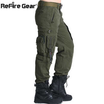 ReFire Gear SWAT 101 Airborne Army Pants Men US Security Combat Tactical Cargo Pants Casual Cotton Many Pocket Military Trousers - DISCOUNT ITEM  31% OFF All Category