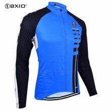 Bxio зимняя термо флисовая мужская Трикотажная рубашка профессиональная велосипедная майка велосипедная команда теплая с длинными рукавами осенняя одежда для велосипеда 029J