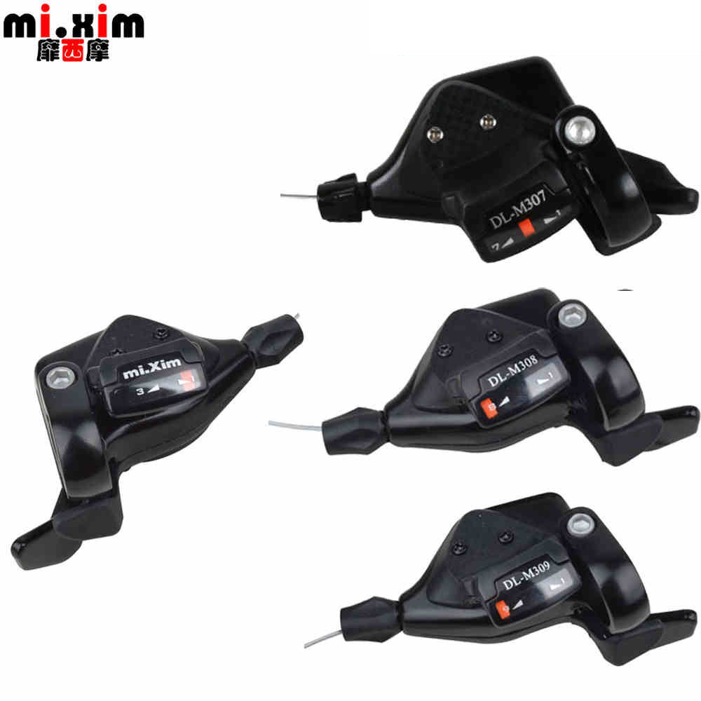 A Pair Mi.Xim Mountain Bike 7 speed Shifters Bicycle 21 Speed Derailleurs Parts