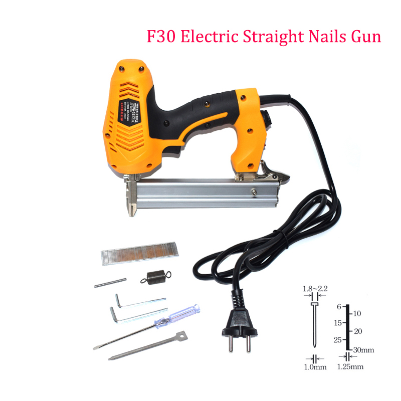 Electric Power Tools Heavy Duty Electric Nails Gun F30 Brad Framing Tacker Electric Nail With 300pcs Nails