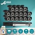 ANRAN 16-КАНАЛЬНЫЙ AHD Видеонаблюдения Системы 1080N HDMI DVR 720 P 1800TVL ИК Открытый Дома Камеры Цифровой Видеорегистратор Камеры ВИДЕОНАБЛЮДЕНИЯ комплект