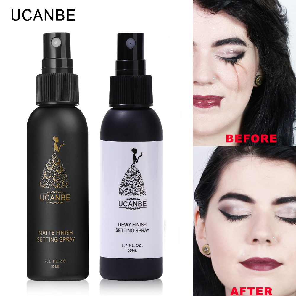 UCANBE Makeup Setting Spray Dewy or Matte Finish Face Fixer Long Lasting Foundation Protector Oil-control Base Cosmetics Mist image
