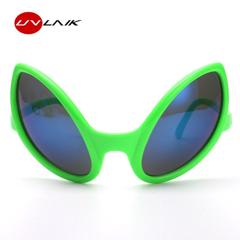 UVLAIK Funny Alien Eyes Sunglasses Men Costume Mask Novelty Glasses Women Party Supplies Decoration Gift Photobooth Props